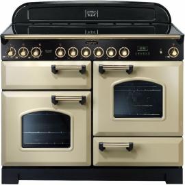 Rangemaster Classic Deluxe 110 Electric (ceramic) Cream and Brass CDL110ECCR/B