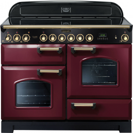 Rangemaster Classic Deluxe 110 Electric (ceramic) Cranberry And Brass CDL110ECCY/B