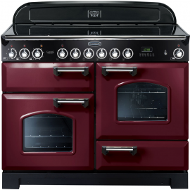 Rangemaster Classic Deluxe 110 Electric (ceramic) Cranberry And Chrome CDL110ECCY/C