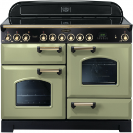 Rangemaster CDL110ECOG/B Classic Deluxe 110 Electric (Ceramic) Olive green/Brass