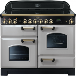Rangemaster Classic Deluxe 110 Electric (Ceramic) Royal Pearl And Brass CDL110ECRP/B
