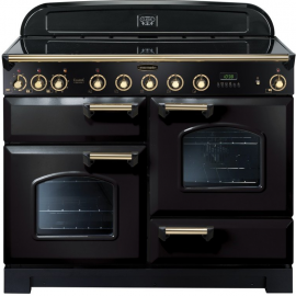 Rangemaster Classic Deluxe 110 Induction Black And Brass CDL110EIBL/B