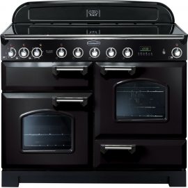 Rangemaster Classic Deluxe 110 Induction Black And Chrome CDL110EIBL/C