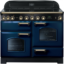 Rangemaster Classic Deluxe 110cm Electric (Induction) Regal Blue And Brass CDL110EIRB/B