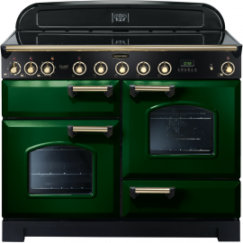 Rangemaster Classic Deluxe 110cm Electric Racing Green And Brass CDL110EIRG/B
