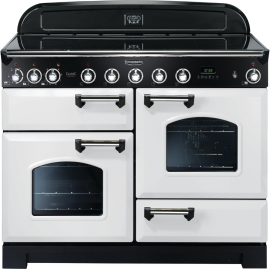 Rangemaster Classic Deluxe 110cm Electric White/Chrome CDL110EIWH/C