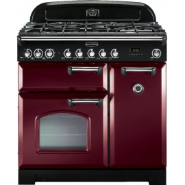 Rangemaster Classic Deluxe 90 Dual Fuel Cranberry And Chrome CDL90DFFCY/C