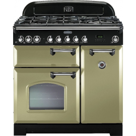 Rangemaster Classic Deluxe 90 Dual Fuel Olive Green and Chrome CDL90DFFOG/C(DISPLAY MODEL)