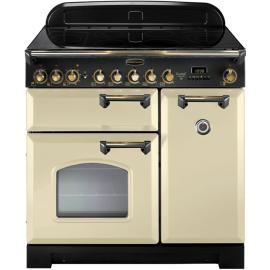 Rangemaster Classic Deluxe 90 Electric (Ceramic) Cream And Brass CDL90ECCR/B