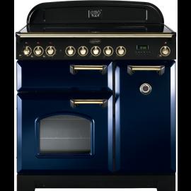 Rangemaster Ceramic Classic Deluxe 90cm Regal Blue And Brass CDL90ECRB/B