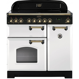 Rangemaster Classic Deluxe 90cm White And Brass CDL90ECWH/B