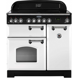 Rangemaster Classic Deluxe 90cm White And Chrome CDL90ECWH/C