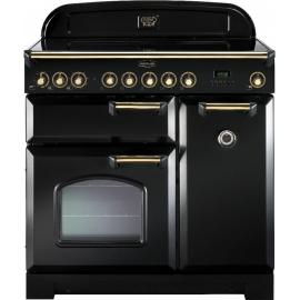 Rangemaster Classic Deluxe 90 Electric (Induction)  Black And Brass CDL90EIBL/B