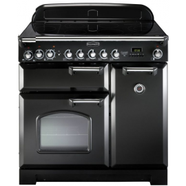 Rangemaster Classic Deluxe 90 Electric (Induction)  Black And Chrome CDL90EIBL/C