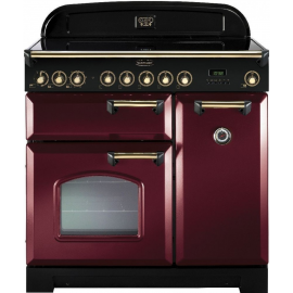 Rangemaster Classic Deluxe 90 Electric (Induction)  Cranberry And Brass CDL90EICY/B