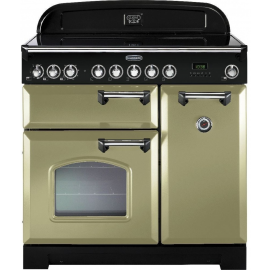 Rangemaster Classic Deluxe 90 Electric (Induction) Olive Green And Chrome CDL90EIOG/C