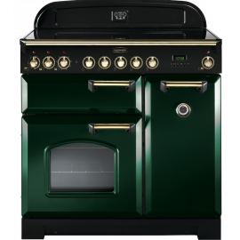 Rangemaster Classic Deluxe 90cm Induction Racing Green And Brass CDL90EIRG/B