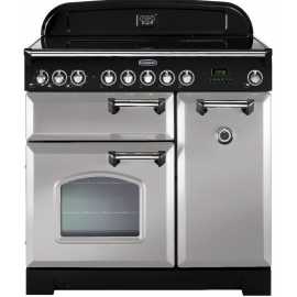 Rangemaster Classic Deluxe 90 Electric (Induction)  Royal Pearl And Chrome CDL90EIRP/C