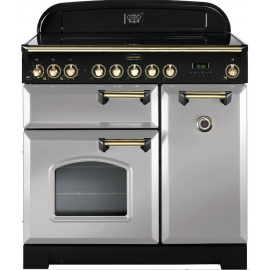 Rangemaster Classic Deluxe 90cm Induction White And Brass CDL90EIWH/B