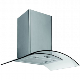 Caple CGC610SS 60cm Curved Glass Chimney Hood
