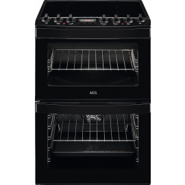 AEG CIB6740ACB 60cm Electric Induction Double Oven Cooker Black