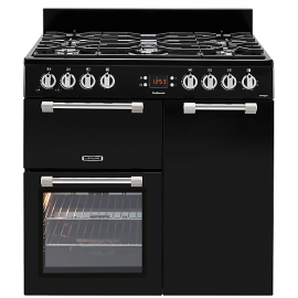 Leisure CK90G232K Black Cookmaster Gas Cooker Black(DISPLAY MODEL)