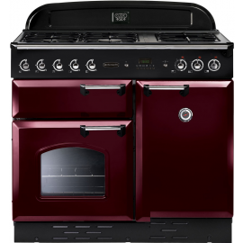 Rangemaster Classic 100 Gas Cranberry/Chrome CLAS100NGFCY/C Display Model 2 Months warranty