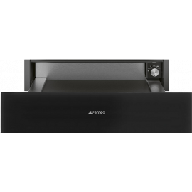 Smeg CPR115N Linea 15cm Warming Drawer Black Glass
