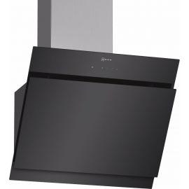 NEFF D65IHM1S0B Angled Glass Design Chimney Hood Black 60 Cm Wide