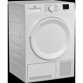 Beko DTLCE80041W 8kg Condenser Sensor Tumble Dryer In White