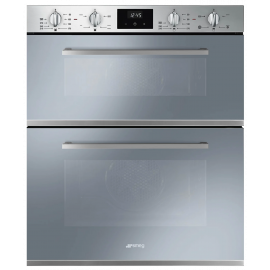 Smeg DUSF400S Cucina 60cm Stainless Steel Built-Under Double Oven