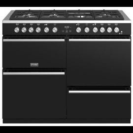 Stoves Precision Deluxe S1100DF Black 110cm Dual Fuel Range Cooker444410747