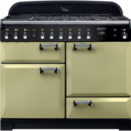 Rangemaster Elan Deluxe 110 Dual Fuel Olive Green ELA110DFFOG/