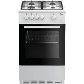 Beko 50cm Single Oven Gas Cooker ESG50W White