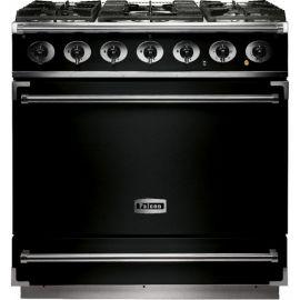 Falcon 900S Single Cavity Dual Fuel Range Cooker Black And Chrome Matt Pan Supports F900SDFBL/CM-EU