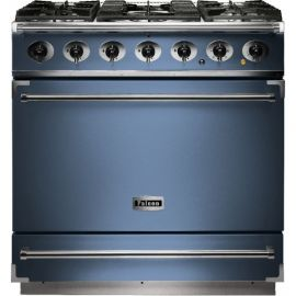 Falcon 900S Single Cavity Dual Fuel Range Cooker China Blue And Nickel Matt Pan Supports F900SDFCA/NM-