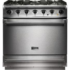 Falcon 900S Single Cavity Dual Fuel Range Cooker Stainless Steel And Chrome Matt Pan Supports F900SDFSS/CM-