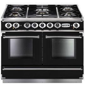 Falcon 1092 Continental Dual Fuel Range Cooker Black And Chrome Matt Pan Supports FCON1092DFBL/CM-EU