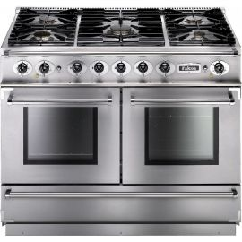 Falcon 1092 Continental Dual Fuel Range Cooker Stainless Steel And Chrome Matt Pan Supports FCON1092DFSS/CM-EU