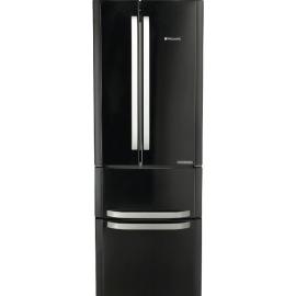 Hotpoint FFU4DK Quadrio Black American Fridge Freezer
