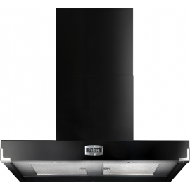 Falcon 900 Contemporary Hood Black And Chrome FHDCT900BL/C