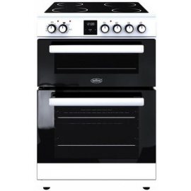 Belling FSE608DPC 444444801 60cm Electric Double Oven with Ceramic Hob Display Model