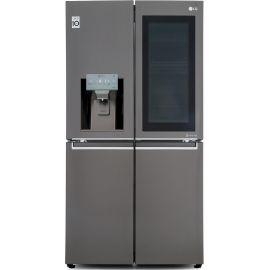 LG InstaView™ Door-in-Door™ GMX936SBHV Wifi Connected American Fridge Freezer - Black Steel - A+ Rated