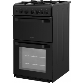 Hotpoint HD5G00KCB 50cm Gas Cooker Twin Cavity Black