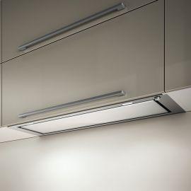 Elica Hidden Stainless Steel/White Glass 120