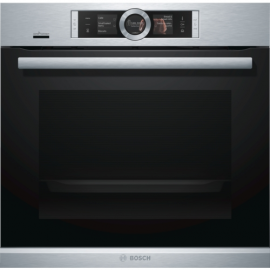 Bosch Series 8 HRG6769S6B Pyrolytic Single Oven with Added Steam