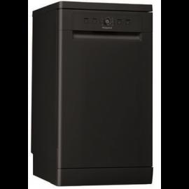 HOTPOINT HSFE1B19B Aquarius Slimline 10 Place Freestanding Dishwasher Black