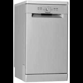 HOTPOINT HSFE1B19SUK Aquarius Slimline 10 Place Freestanding Dishwasher Silver