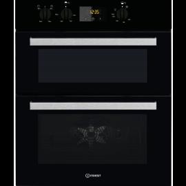 Indesit IDU6340BL Double Built Under Electric Oven