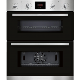 NEFF N 30, BUILT-UNDER DOUBLE OVEN, STAINLESS STEEL J1GCC0AN0B